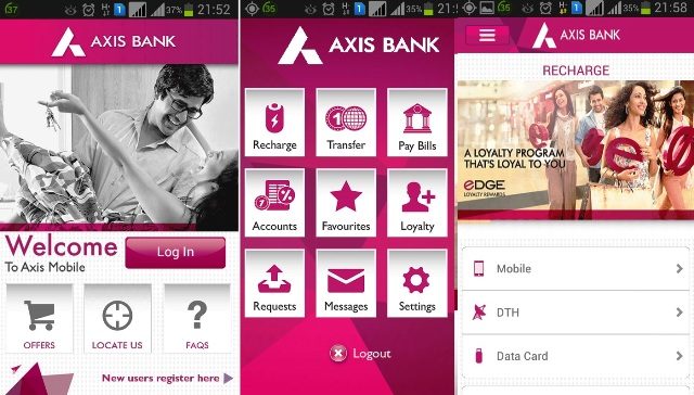 how to pay axis credit card bill through atm